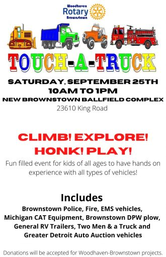 Woodhaven Brownstown Rotary Touch-A-Truck @ Brownstown Charter Township | Michigan | United States