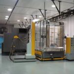 Powder coating automated booth